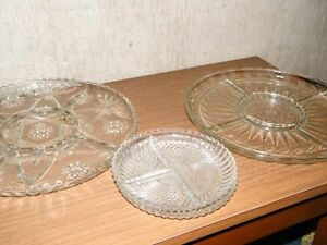 Crystal platters and trays