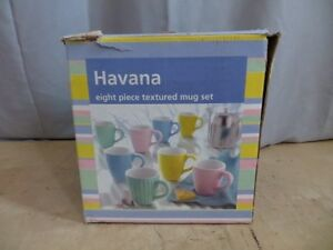 Havana 8 Piece Textured Mug Set