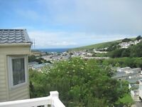 Cheap 3 Bedroom caravan with sea views, decking and countryside views
