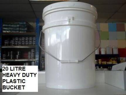BUCKETS 20 LITRE HEAVY DUTY INDUSTRIAL PLASTIC WITH LID