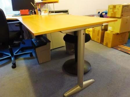 Ikea Effektiv Desk Combination In Beech With Metal Legs Shelf