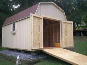 Custom built buildings and sheds