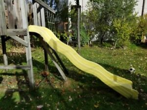 Playground or playhouse wave slide
