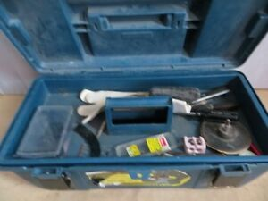Tool Box with Miscellaneous Stained Lamp Shade Tools London Ontario image 4