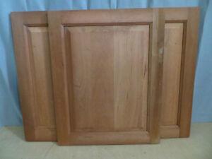 3 Walnut Wood Cabinet Doors
