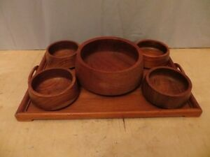 Wood Tray with 5 Wood Bowls London Ontario image 1