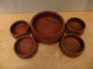 Wood Tray with 5 Wood Bowls London Ontario image 4