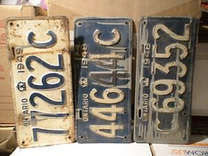 License Plates, mostly Ontario from 1929 t0 1980 100's in total Belleville Belleville Area image 4