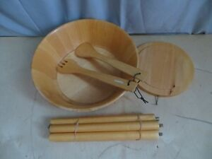 Wooden Salad Bowl with Stand London Ontario image 7