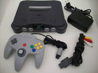 NINTENDO 64 SYSTEM WITH A CONTROLLER AND 2 GAMES