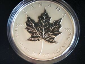 1998 10 OZ SILVER MAPLE LEAF COIN West Island Greater Montréal image 1