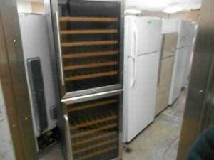 Summit wine cellar with two separate area, two steel doors, 23.5 wide LED lights, 70 high, 22.5 deep, very clean for