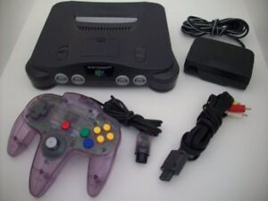 Nintendo N64 Console, Game And  Official Purple Controller $60