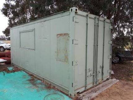 Container shed - kitchen insulated