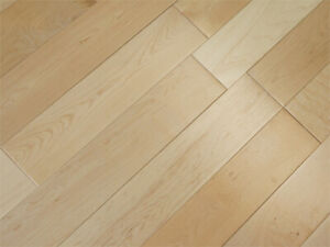 NATURAL MAPLE HARDWOOD FLOORING – SOLID 3 ½ X ¾ - ONLY $2.99