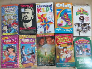 10 VHS Set of Tapes
