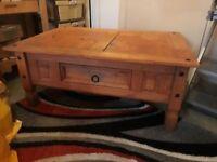 "Hardwood coffee table good condition 42""; x 30"" x18"" high for sale Kilburn £160 ONO buyer collect"