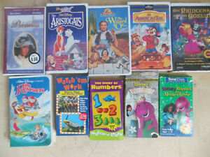 Set of 10 VHS  Children's Tapes London Ontario image 1