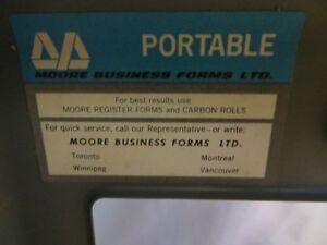 Vintage Moore Portable Receipt Invoice Machine London Ontario image 5
