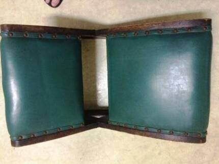 Stool Leather Rocking - Used for Treating Gout – Antique