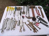 Box of mixed hand tools