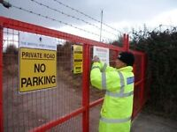 Security for construction and events (immediate)