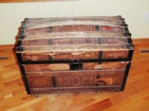 Vintage Treasure Chest with wheels