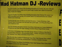 Mad Hatman MOBILE Disco Edinburgh Party DJ Karaoke HIRE Central Scotland all Ages