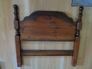 Vintage Wood Bed Frame, Twin Size
