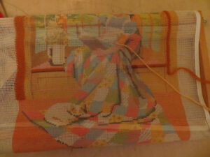 "Sunset Needlepoint ""Girl At the Window"" London Ontario image 3"