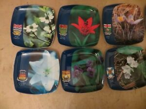 Canada Provinces Flower Coaster London Ontario image 2
