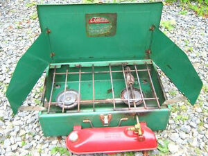 COLEMAN CAMPING STOVES 2 BURNER AND 1 BURNER
