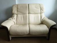 "Ekornes Stressless 2 seater Settee in the ""Reno"" style sofa"