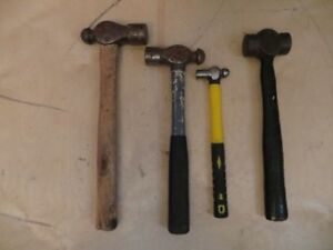 3 Ball Point Hammers and a Sledgehammer
