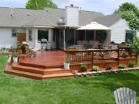 Build, Paint or Stain (Decks or Fences)