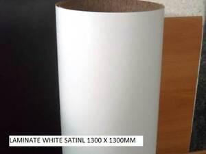CARAVAN LINING LAMINATE WHITE SATIN 1300 X 1300 MM SHEET Gold Coast Region Preview