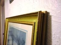Picture frame gilt effect