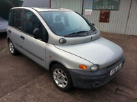 2001 Fiat Multipla 100 JTD ELX – Complete car for Spares or Repair – Delivery Possible