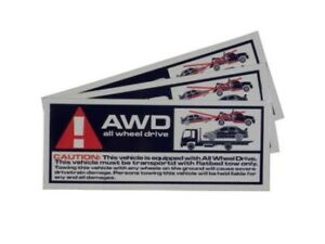 AWD All Wheel Drive Warning Tow sticker Mitsubishi Evo Subaru STI