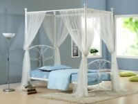 Girls single four poster butterfly bed