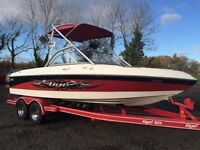 Tige 20i Speedboat 20ft - wake-boarding boat, 320HP engine with custom twin axle trailer