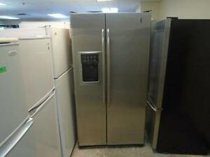 "1000950 FRIGO EN ACIER COTE A COTE 36"" GE PROFILE 36"" SIDE BY SIDE DOOR STAINLESS FRIDGE"