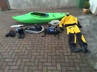 Kayak, Liquid Logic Hoss and all the kit to get started straight away safely