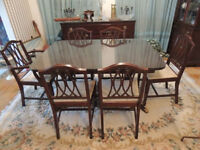 Mahogany Dining Set- Auctioned THIS SATURDAY May 30 600+ items