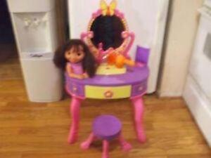 Dora Talking Vanity with Stool and Accessories
