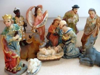 11- teiliges Set Krippenfiguren Krippe Weihnachten Weihnachten Krippe