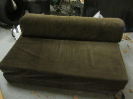 **FREE** sofa bed settee - brown cord with removable cover - LAST CHANCE BEFORE IT GOES TO LANDFILL!