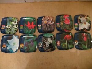 Canada Provinces Flower Coaster London Ontario image 1