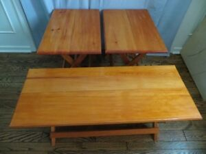 Set of 3 Folding Table