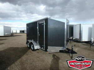 7 x 12 E-Series - Ramp Door! $6,749 TAX IN, Delivered to YOU!